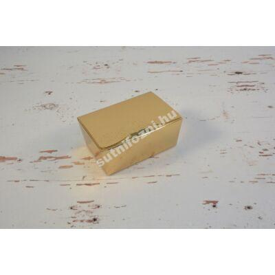 Fényes arany bonbon doboz S
