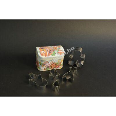 Süteményes doboz kiszúrókkal