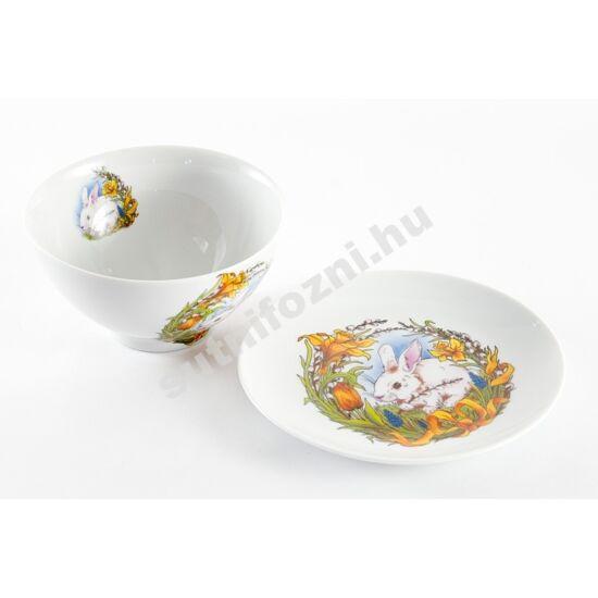 Nyuszis tálka tányérral