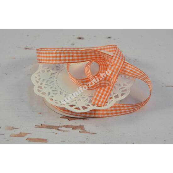 Narancssárga-fehér kockás szalag