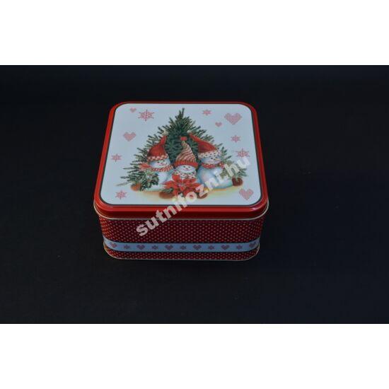 Süteményes doboz  hóemberek sipkában