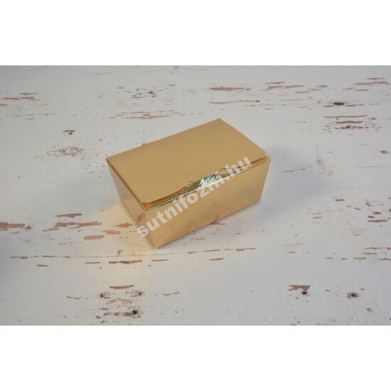 Fényes arany bonbon doboz M