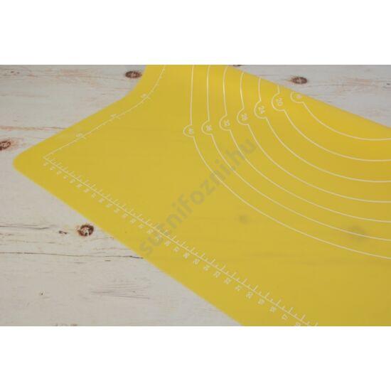 szilikonos nyújtólap sárga