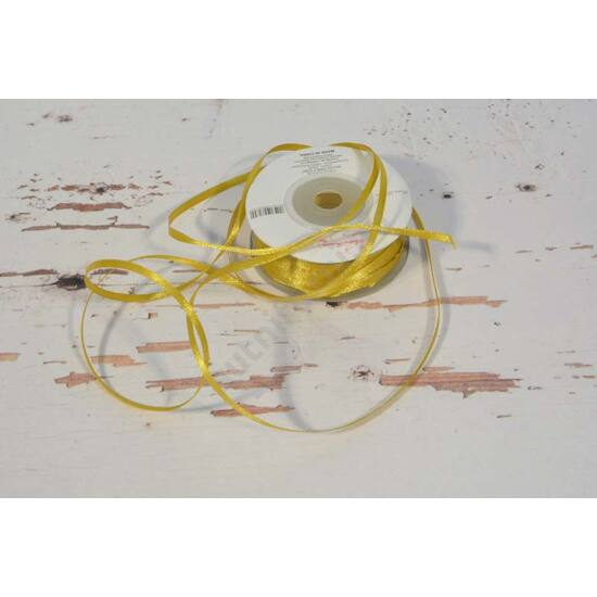 3 mm szatén szalag arany