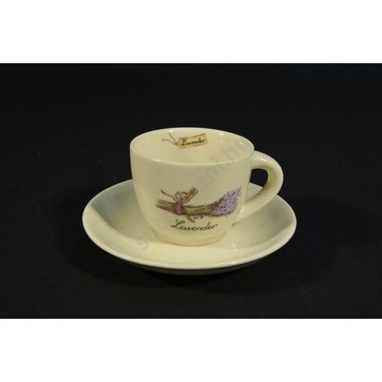 levendula mintás kerámia kávéscsésze