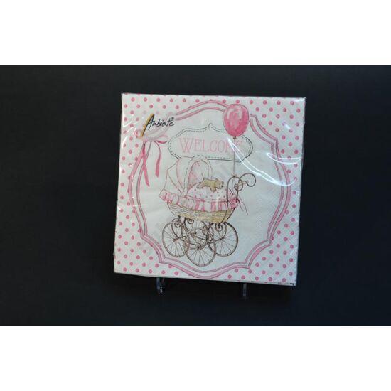 keresztelőre rózsaszín szalvéta