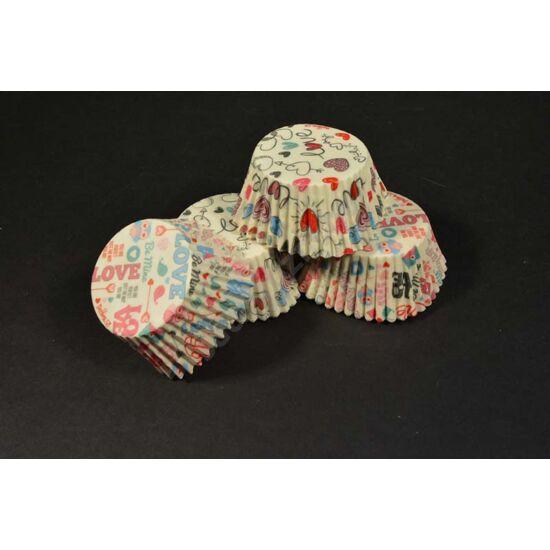 szív mintás muffin papír
