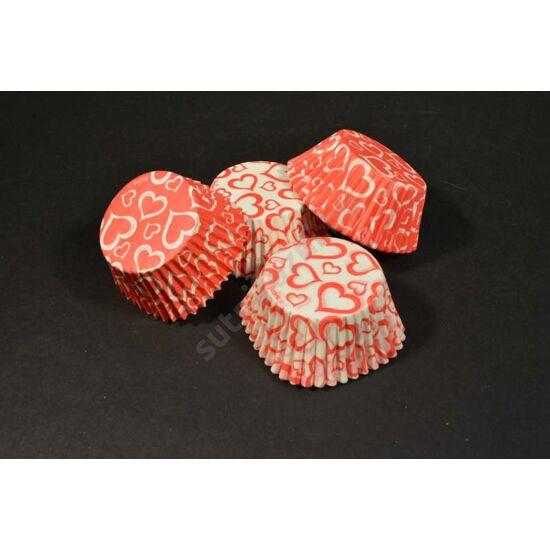 szíves  muffin papír