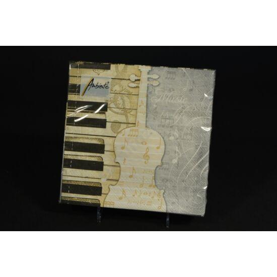 zenei papírszalvéta