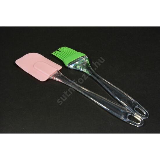 szilikon spatula és kenőecet szett