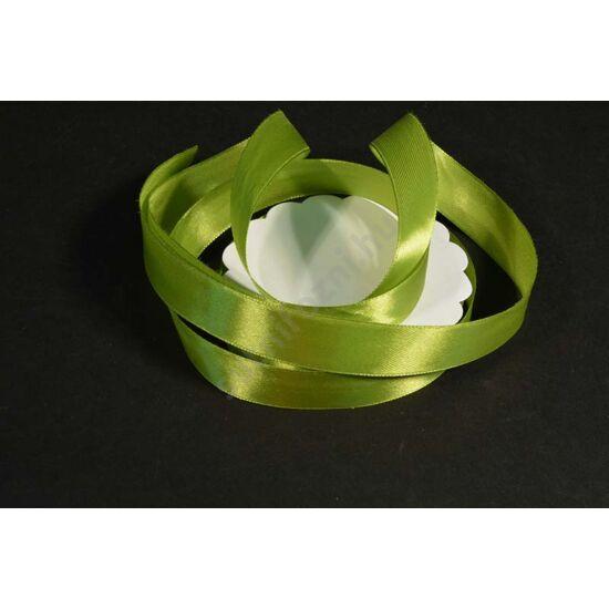 szatén szalag 2 cm oliva zöld