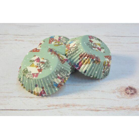 Karácsonyi muffinpapír