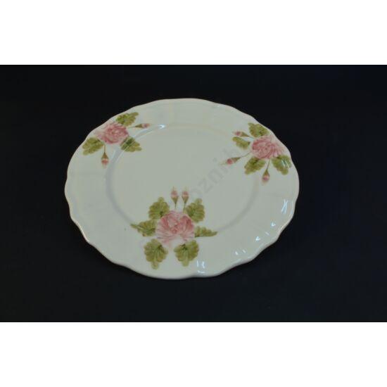 Rózsás süteményes tányér